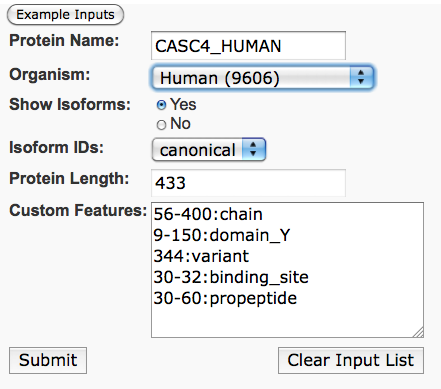 visualize custom protein features